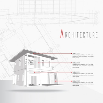 Architektur infografik-vorlage