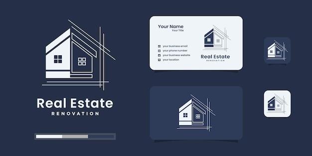 Architektur-logo-design-vorlage. minimalistischer renovierungshausvektor für ihr unternehmen.