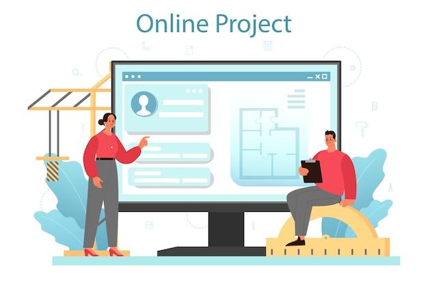 Architektur-onlinedienst oder -plattform.