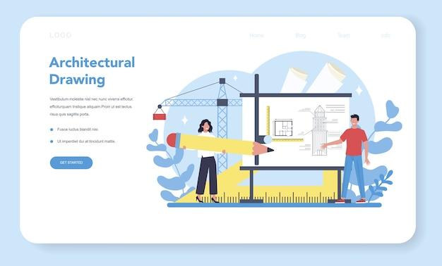 Architektur-webbanner oder zielseite