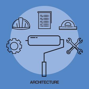 Architekturdesign stellte ikonen ein