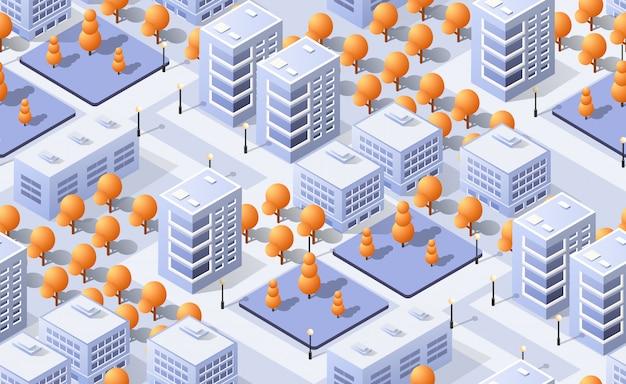 Architekturvektor-illustrationsstadt