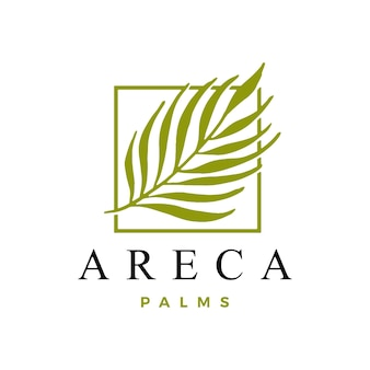 Areca palm logo vorlage