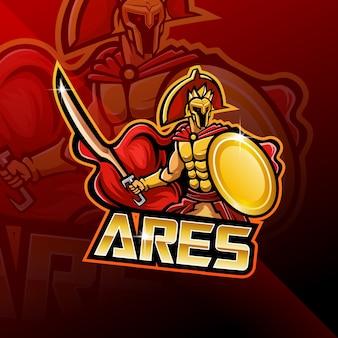 Ares esport maskottchen logo design