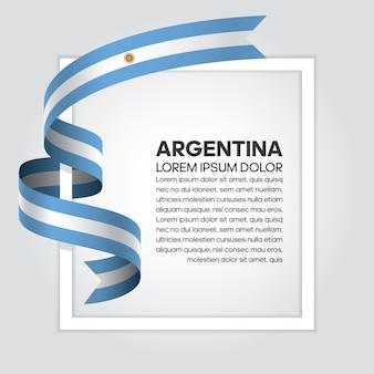 Argentinien bandflagge, vektor-illustration auf weißem hintergrund