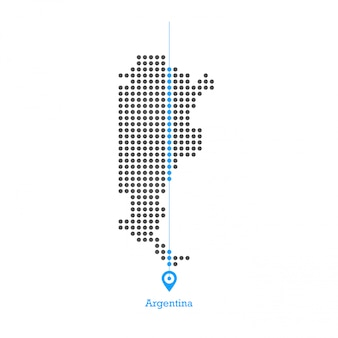 Argentinien dotierte kartenentwurfsvektor