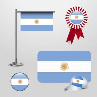 Argentinien fahnen design vektor