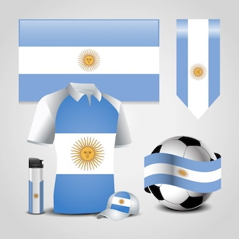 Argentinien flagge design vektor