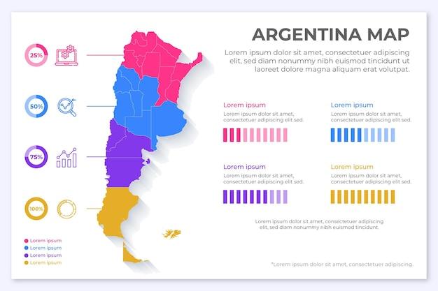 Argentinien karte infografik im flachen design