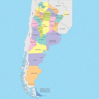 Argentinien karte vektor