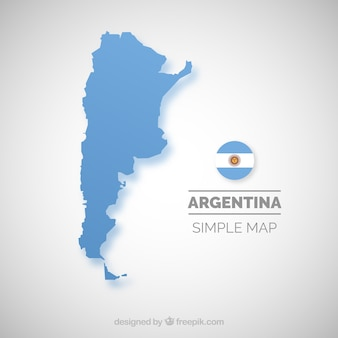 Argentinien karte