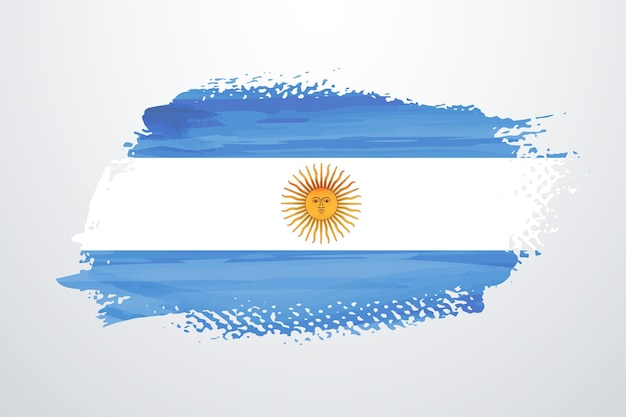 Argentinien pinselfarbe flagge