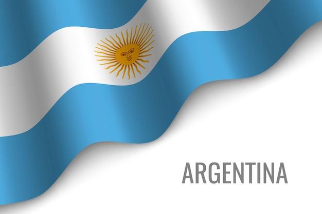 Argentinien winkende flagge