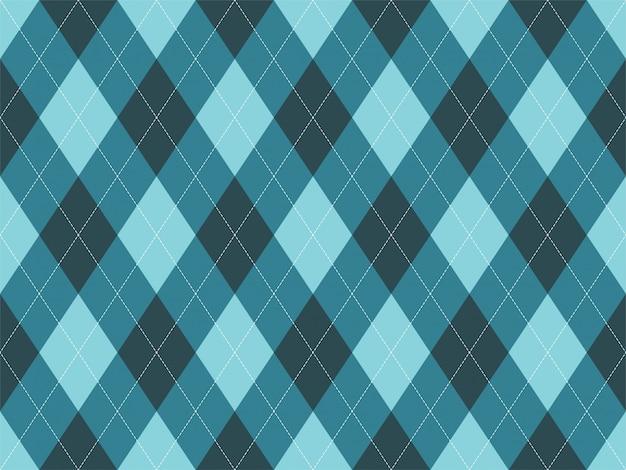Argyle muster nahtlos. stoff und textil.