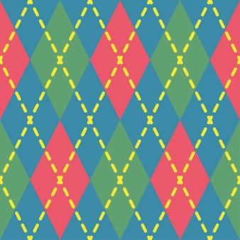 Argyle nahtlose muster geometrische vektor raute ornament