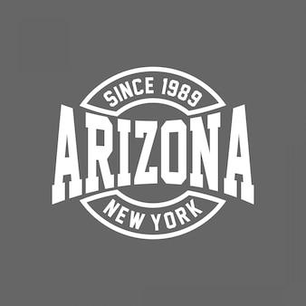 Arizona-typografie für t-shirt