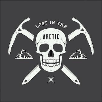 Arktisches schädellogo.