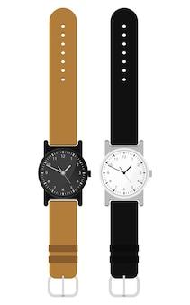Armbanduhr-designillustration lokalisiert auf weißem hintergrund