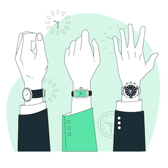 Armbanduhr-konzeptillustration