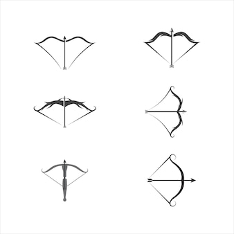 Armbrust vektor icon design illustration vorlage