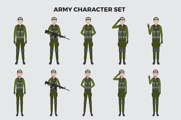 Armee-illustrationssatz