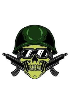 Armee-schädel-vektor-illustration