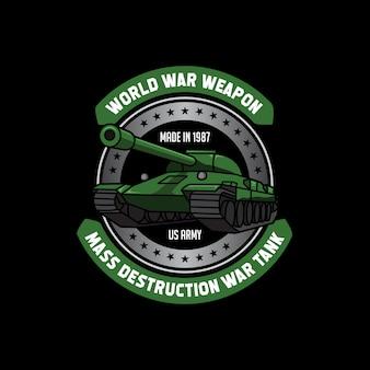 Armee-waffenereignis-t-shirt-verein-schablone