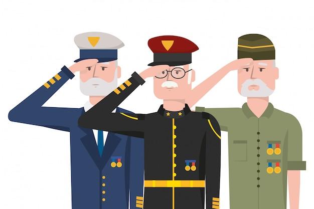Armee zwingt männer