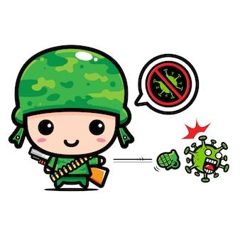 Armeedesign gegen coronavirus