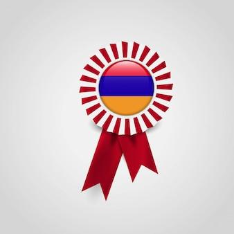 Armenien flag ribbon banner