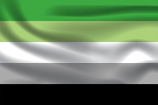 Aromantische flagge für lgbtq-freie vektorillustration