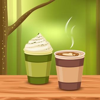 Aromatischer kaffee in der frische