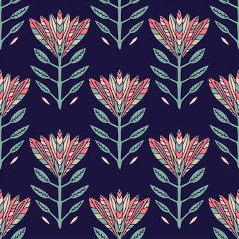 Art deco blumenmuster. textil- und tapetendesign.