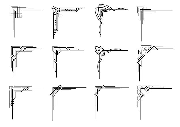 Art-deco-ecken-sammlung