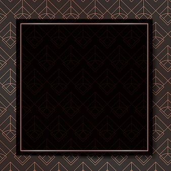 Art deco frame hintergrund