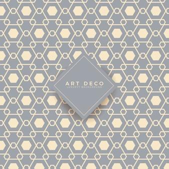Art deco geometrisches nahtloses muster