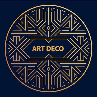 Art-deco-linearkreis, runder rand, rahmen.
