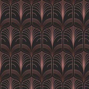 Art-deco-muster aus dunklem roségold