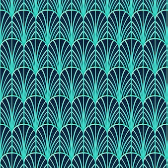 Art-deco-muster mit farbverlauf