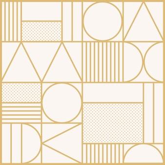 Art-deco-muster-vektor-hintergrund in gold