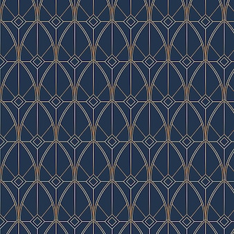 Art-deco-musterdesign mit farbverlauf