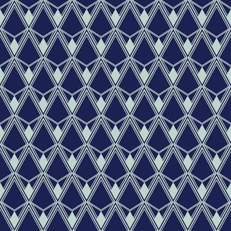 Art-deco-nahtloses muster, geometrischer hintergrund für design, abdeckung, textil, tapete, dekoration in vektor