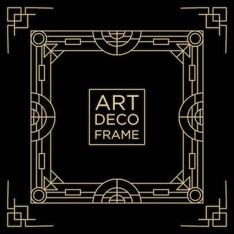 Art deco rahmen design hintergrundvorlage