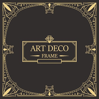 Art-deco-rahmen und frame-vorlage.