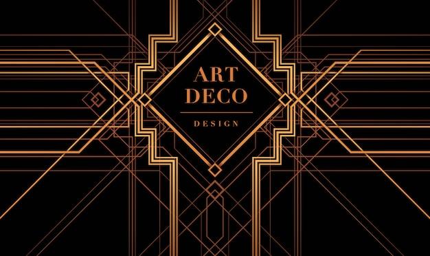 Art-deco-rahmen vektor, der große gatsby-deco-stil.