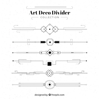 Art deco-teiler-kollektion