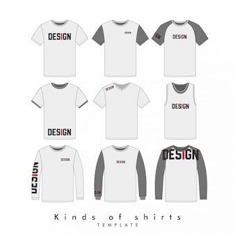 Art des hemdes und designstandort