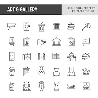 Art & gallery icon set