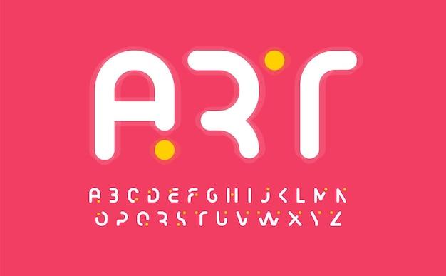 Art kreatives alphabet modernes abstraktes schriftdesigngroßbuchstaben abgeschnittene buchstaben für kunstgalerie oder kinder