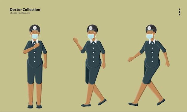 Art-logo-kampagne animation körperhaltung konzept uniform kleidung erwachsene sammlung wallpaper hintergrund